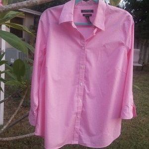 Lauren Ralph Lauren Pink Gingham Button Down Shirt